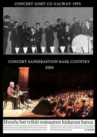 Concert Gort Co Galway 1955. Sansabastion bask country 2006